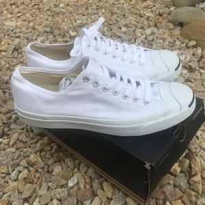 White Converse Jack Purcell mens size 10